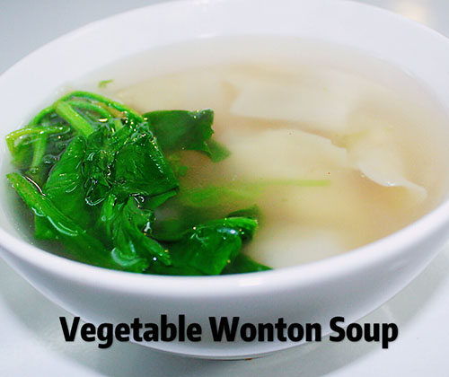 Vegetable Wonton Soup(10)